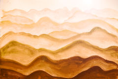 Mountains. Painted watercolor on paper Royalty Free Stock Images