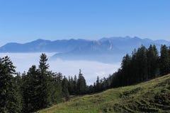 Mountains. A day in the bavarian mountains Stock Photos
