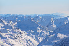 Mountains. High mountains under blue sky beautiful winter panorama Royalty Free Stock Image