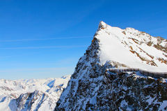 Mountains. High mountains under blue sky beautiful winter panorama Royalty Free Stock Photo