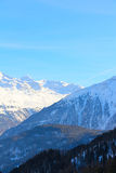 Mountains. High mountains under blue sky beautiful winter panorama Royalty Free Stock Images