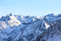 Mountains. Hight mountains under blue sky beautiful winter panorama Royalty Free Stock Images