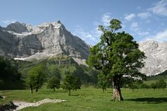 Mountains. A day in the austrian mountains, Eng, Karwendel Stock Photo