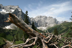 Mountains. A day in the austrian mountains, Eng, Karwendel Royalty Free Stock Photography