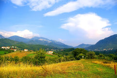 Mountains. Pastures and Meadows under Mountains Royalty Free Stock Photography