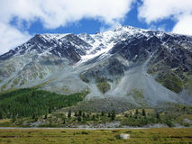 Mountains. In Altay, Russia. August stock photos