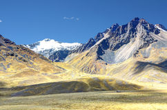 Mountains. Andes mountain range and rolling hillsides in Peru Royalty Free Stock Photography