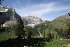 Mountains. A day in the austrian mountains, Karwendel, Eng Royalty Free Stock Photos