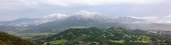 Mountains. A snowing montains in the north of Sardinia Stock Images