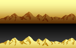 Mountains. Mountain landscape at sunset in several colors vector illustration