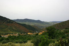 Mountains. Of Sicily, Small town Royalty Free Stock Photos