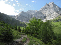 Mountains. A day in the austrian mountains, Karwendel, Eng Royalty Free Stock Image