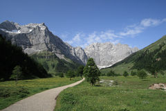 Mountains. A day in the austrian mountains, Karwendel, Eng Stock Photography