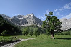 Mountains. A day in the austrian mountains, Karwendel, Eng Stock Image