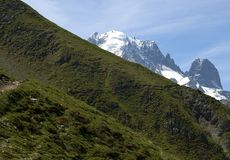 In the mountains. Ascent to Albert Refuge, Haute-Savoie, France Stock Images