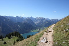 Mountains. A day in the austrian mountains, Achensee, Rofangebirge Royalty Free Stock Photo
