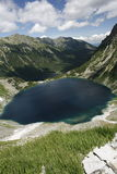 Mountains. Climbing on the highest peak in Polish mountain stock photography