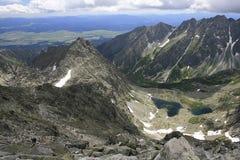 Mountains. Climbing on the highest peak in Polish mountain royalty free stock photo