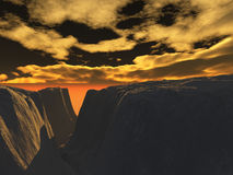 Mountains. Computer generated background Stock Illustration