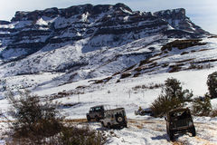 Mountains 4x4 Snow Vehicles Royalty Free Stock Photography