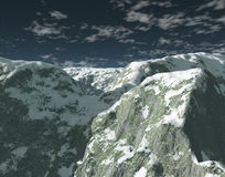 Mountains. Computer generated image Vector Illustration