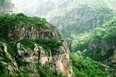 Mountains. Of Geghard in Armenia stock image