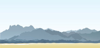 Mountains. And hills. Vector illustration Stock Photography