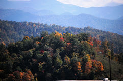 In the mountains. Fall in the mountains of rural North Carolina Royalty Free Stock Photography
