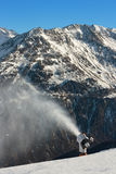 Mountains. Snow cannon in the mountains Stock Photos