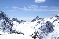 Mountains. Caucasus Mountains. Dombaj. Snow-capped mountains Stock Photo