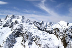 Mountains. Caucasus Mountains. Dombaj. Winter resort Stock Images