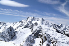 Mountains. Caucasus Mountains. Dombaj. Winter resort Stock Photography