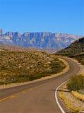 Mountains. A winding road through the mountains of Texas Stock Photos