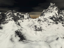 Mountains. Digital generated surrealistic landscape scene Royalty Free Stock Images