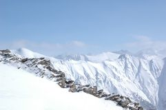 Mountains. View of mountains ridge and peaks Stock Photography