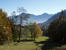 Mountains. A day in the bavarian mountains Royalty Free Stock Image