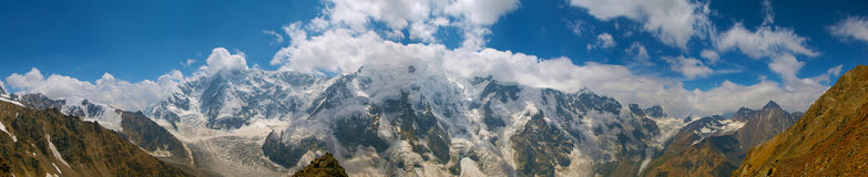 Mountains. The Bezengi wall in Russia Royalty Free Stock Photography