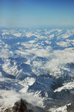 Mountains. The Swiss Alps as seen from an airplane royalty free stock photography