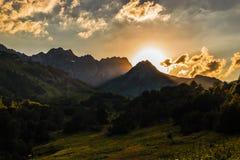 Mountains of Abkhazia on a decline Stock Photo