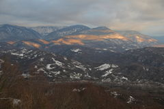 Mountains of Abkhazia. View of the mountains of Abkhazia from Russia Royalty Free Stock Photography