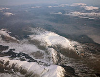 Mountains from above royalty free stock images