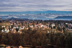 Mountains above Bern Stock Photo