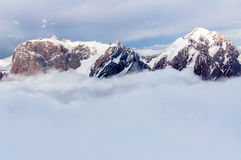 Mountains above the clouds Royalty Free Stock Photo