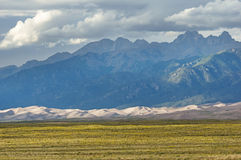 Mountains Above Great Sand Dunes Stock Images