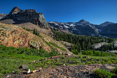 Mountains above Lake Blanche in Utah. This photo was taken above Lake Blanche in Utah Stock Images