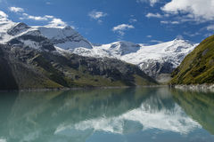 Mountains above Mooserboden lake Royalty Free Stock Photo