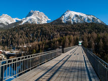 Mountains above Scuol Royalty Free Stock Photography