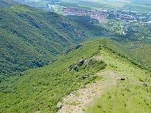 Mountains above Sopot, Bulgaria. Sopot from the Stara Planina mountains stock photo