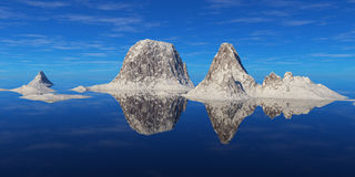 Mountains above the water. Stock Images