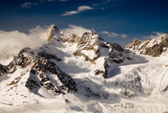 Mountains above Zermatt Royalty Free Stock Photos